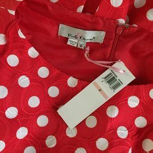 Kelly & Diane Dresses - Kelly & Diane Red Polka Dot Dress